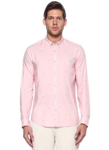 Oxford Yaka Desenli Uzun Kollu Gömlek -Beymen Club